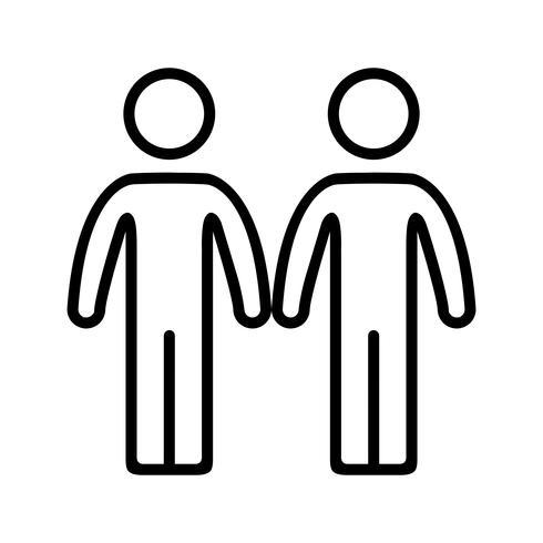 Partnerschafts-Vektor-Symbol