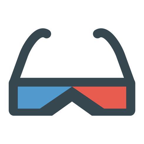 Icona di vettore di occhiali 3D