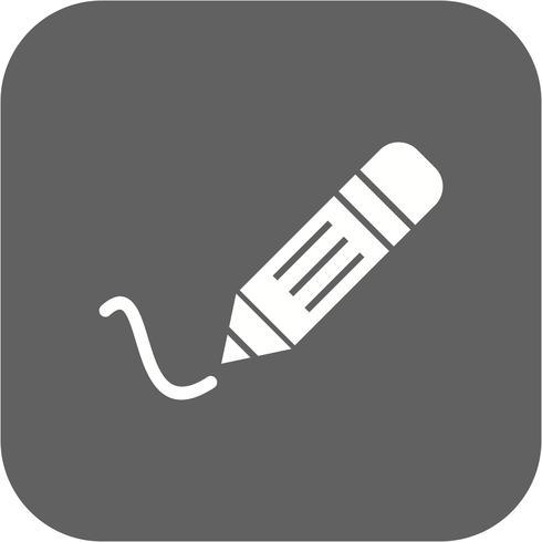 Ícone de escrita de vetor