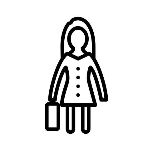 Mujeres con maletín Vector icono
