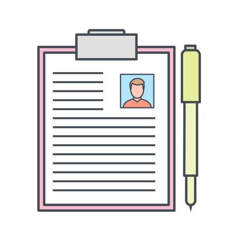 Icona di vettore di documentazione
