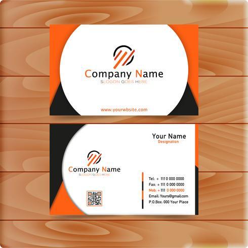 Orange Business Card vector