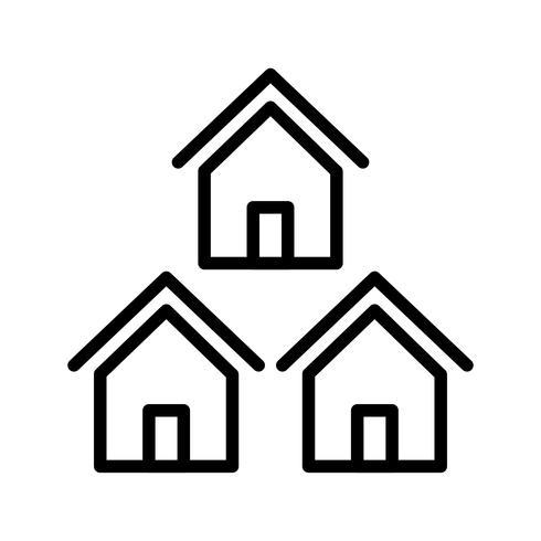 Ícone de vetor de vizinhança