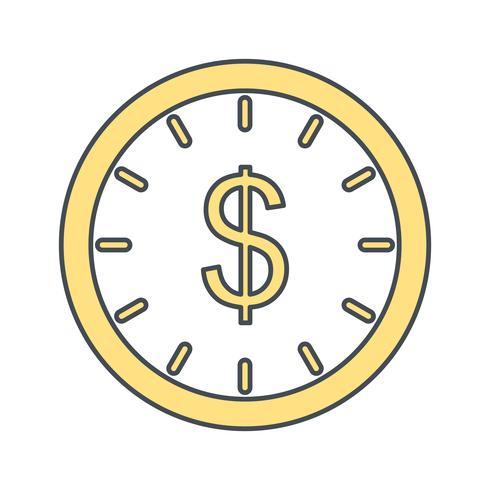 Il tempo è denaro icona vettoriale