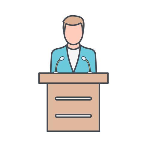 Icona di vettore di discorso