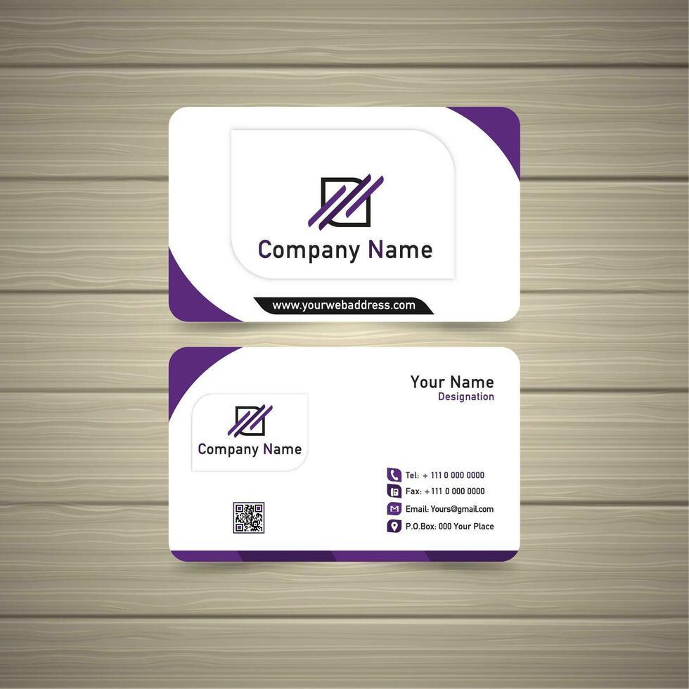 violet visitekaartje