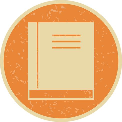 Vektor Buchsymbol