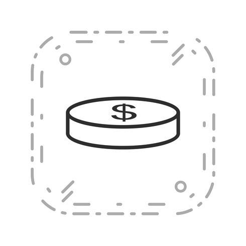 Myntvektorn Ikon vektor