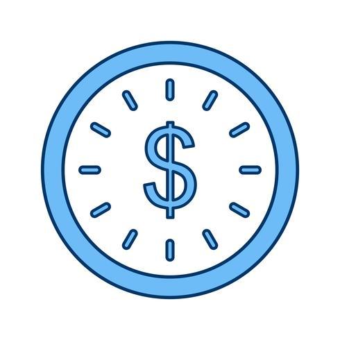 Zeit ist Geld Vektor Icon