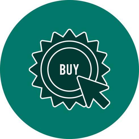 Vector icono de compra