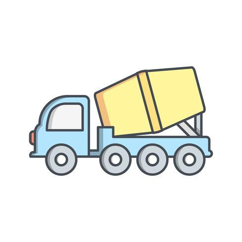 Icona di vettore del miscelatore di cemento