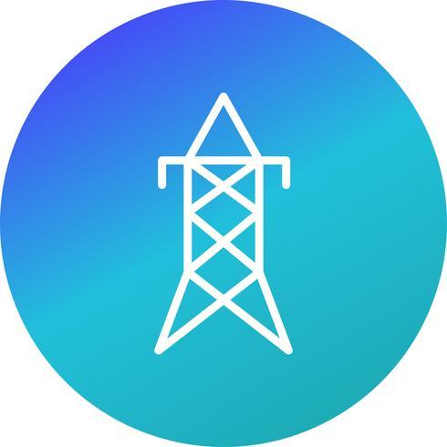 Icona di vettore della torre elettrica