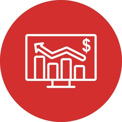 Icona di vettore del grafico commerciale