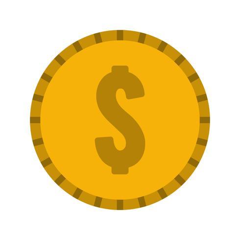 vektor dollar mynt ikon