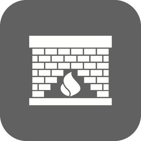 Icona di vettore del posto del fuoco