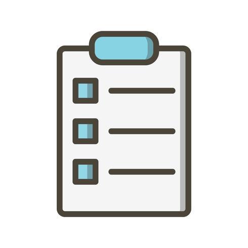 Icona della lista vettoriale