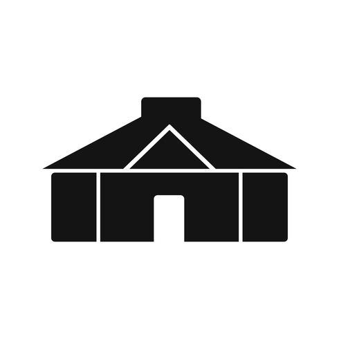 Jurte-Vektor-Symbol