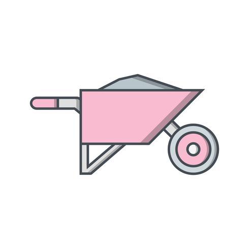 Icona di vettore della carriola
