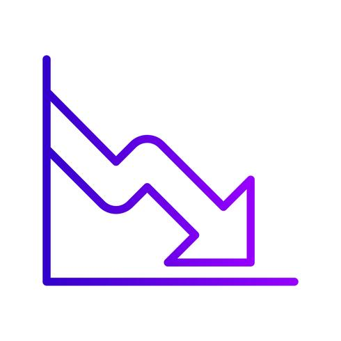 Icona di vettore di caduta di affari