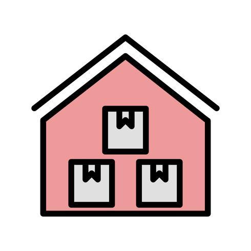 Icona di vettore del magazzino di stoccaggio