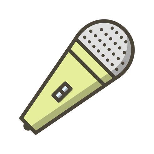 mic vector pictogram