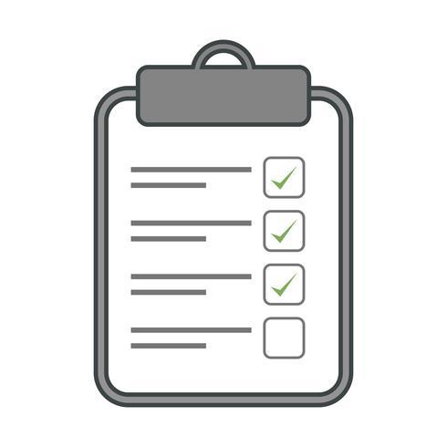 Vektor-Checkliste-Symbol