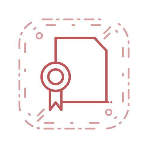 Vektor Diplom Ikon