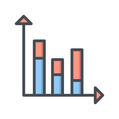 Icono de estadísticas vectoriales vector