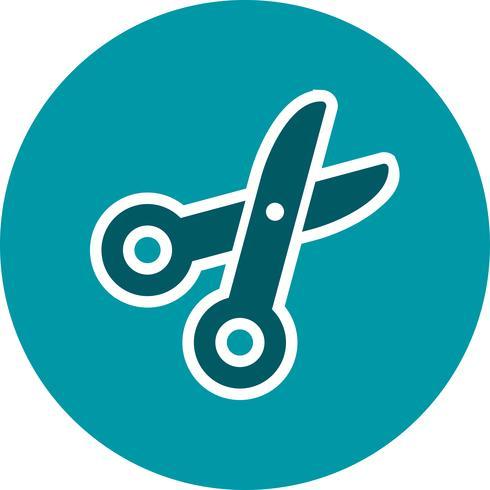 icône de vecteur de ciseaux