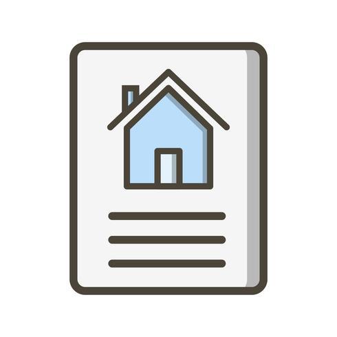 Huis document Vector pictogram