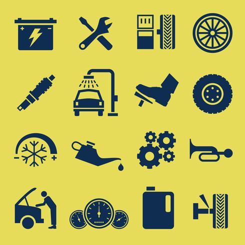 Auto Car Repair Service Icon Symbol. vector