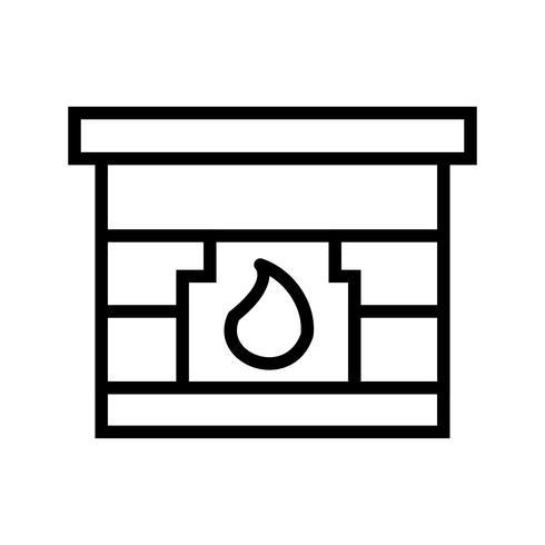 Vuurplaats Vector Icon