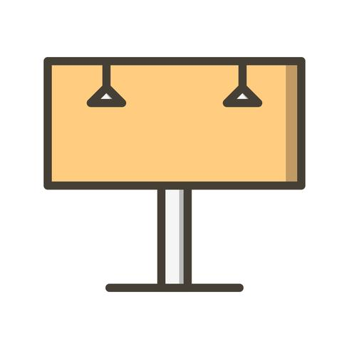 billboard vector pictogram