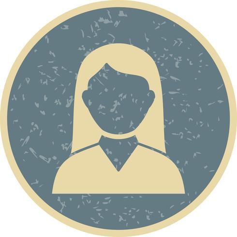 Vector icono de estudiante femenino