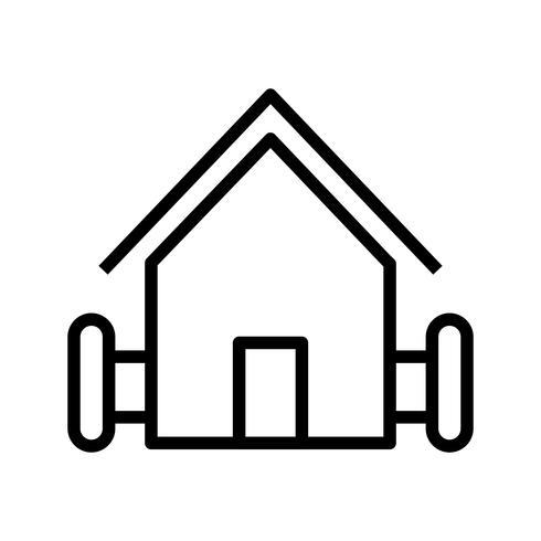 lantgård vektor ikon