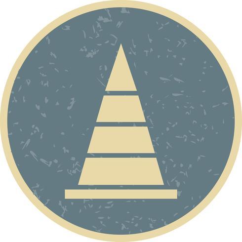 Kegel-Vektor-Symbol
