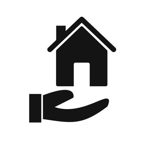 Icona di vettore di ipoteca