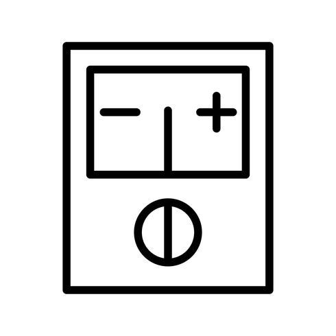 Ícone de vetor de voltímetro