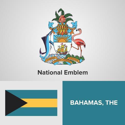 Emblème national des Bahamas, carte et drapeau