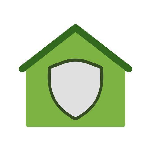 Icona di vettore casa protetta