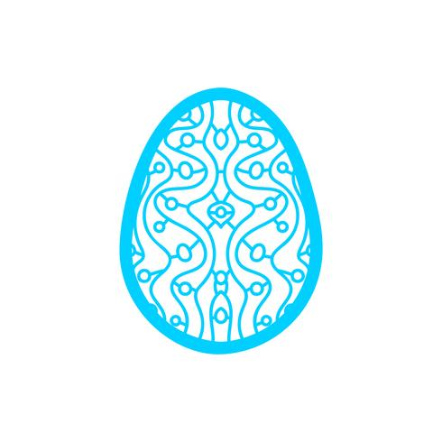 Happy Easter Laser cutting template for greeting cards vector