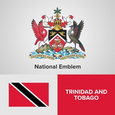 National Emblem, Map and flag