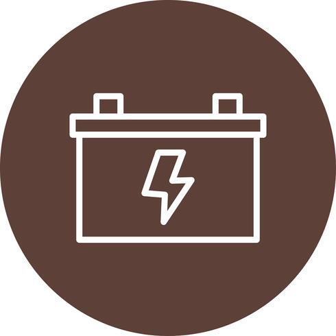 Batterivektorns ikon