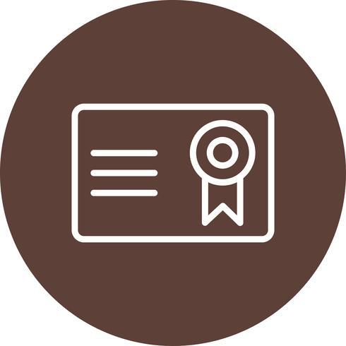 Icona di vettore del certificato di vettore