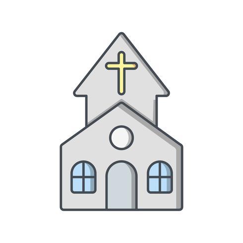 Ícone de vetor de igreja