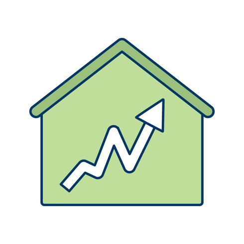 Icono de vector de casa de gráfico