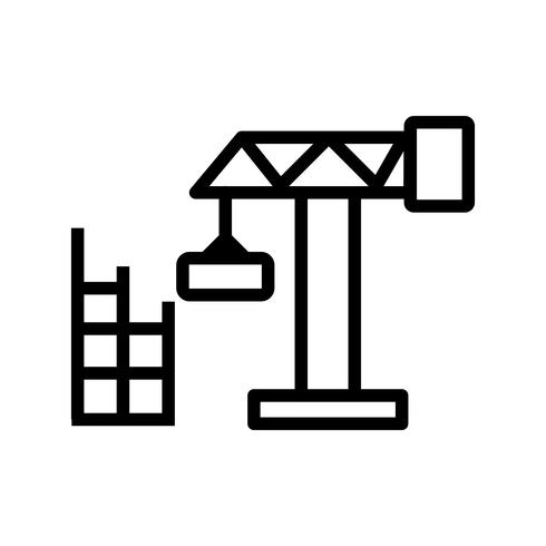 Konstruktion hus vektor ikon