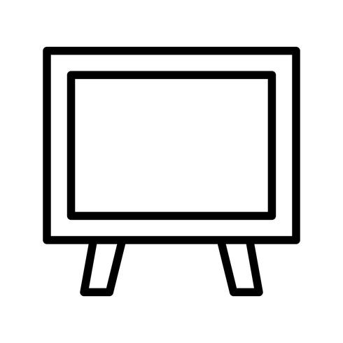 Icône de tableau noir de vecteur