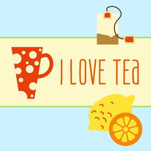 conjunto de ícones com chá em estilo simples