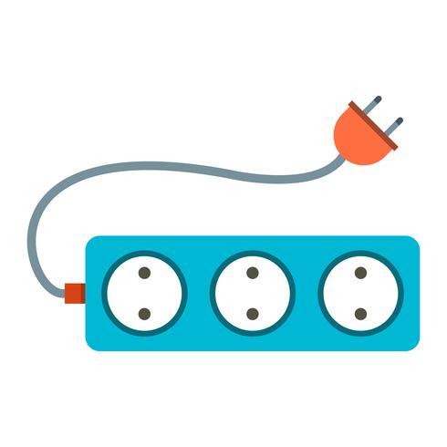 Icono de Vector de cable de extensión